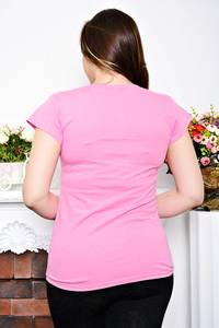 Футболка розовая с принтом Р6934