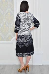 Платье короткое классическое трикотажное Р0477