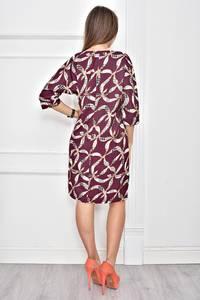 Платье короткое с принтом современное Ф0262