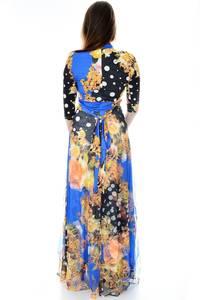 Платье длинное повседневное с принтом П6697