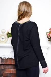 Кофта с длинным рукавом черная теплая Р7630