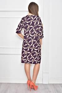 Платье короткое с принтом современное Ф0263