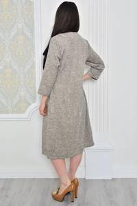 Платье длинное зимнее однотонное Р0478