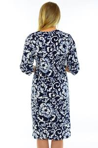 Платье длинное с принтом зимнее М5587