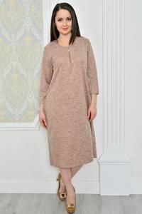 Платье длинное зимнее однотонное Р0479