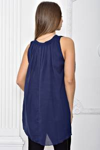 Блуза синяя Т2475