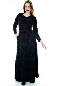 Платье длинное черное нарядное П6699