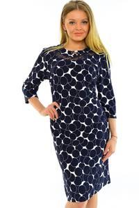 Платье длинное с принтом зимнее М5588
