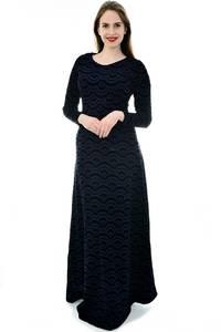 Платье длинное черное нарядное П6700