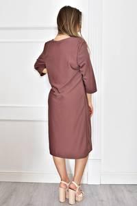 Платье длинное однотонное нарядное Т6626