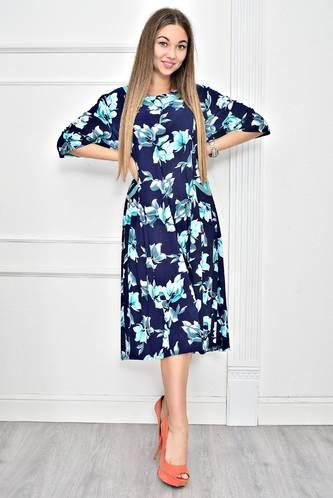 Платье длинное с принтом повседневное Ф0268
