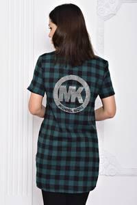 Рубашка в клетку с коротким рукавом С9700
