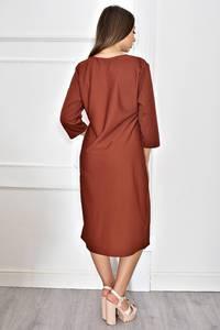 Платье длинное однотонное нарядное Т6627