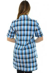 Рубашка в клетку с коротким рукавом Н1943