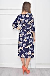 Платье длинное с принтом повседневное Ф0269