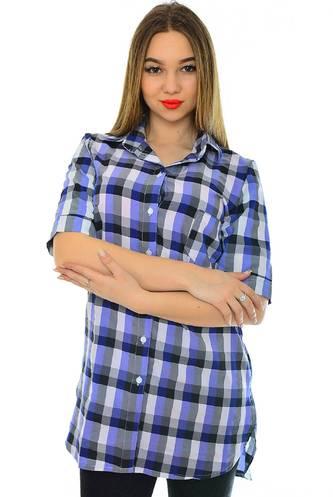 Рубашка в клетку с коротким рукавом Н1944