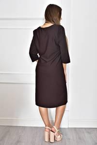 Платье короткое однотонное нарядное Т6628