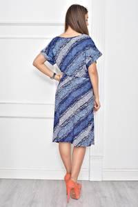 Платье короткое с принтом повседневное Ф0270