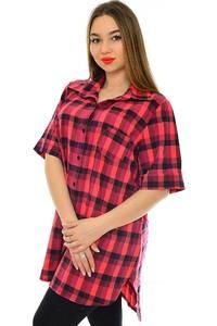 Рубашка в клетку с коротким рукавом Н1945