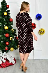 Платье длинное трикотажное с принтом П7461