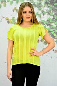 Блуза желтая прозрачная П5737