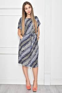 Платье короткое с принтом повседневное Ф0271