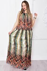 Платье длинное нарядное без рукавов С9087