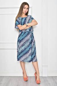 Платье короткое с принтом повседневное Ф0272