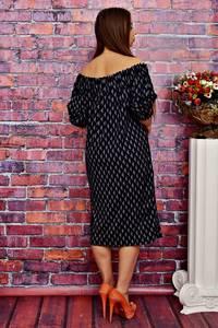 Платье длинное повседневное с открытыми плечами Т4236