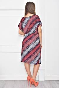 Платье короткое с принтом повседневное Ф0273