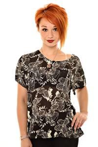 Блуза черная нарядная К8374