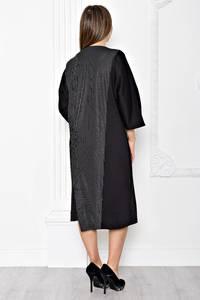 Платье длинное черное деловое Т1884