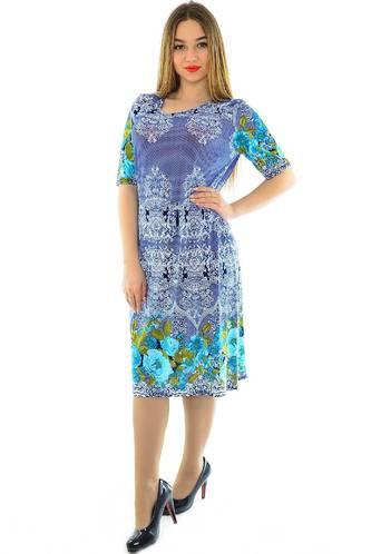 Платье длинное с принтом нарядное Н1948
