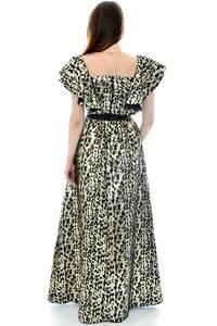 Платье длинное нарядное с принтом П6703