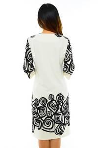 Платье длинное с принтом белое М4224