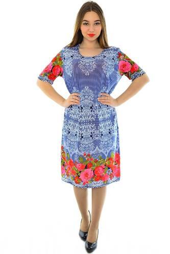 Платье длинное с принтом нарядное Н1949