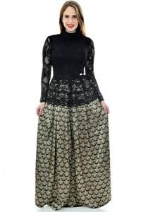 Платье длинное черное нарядное П6704