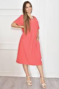 Платье длинное нарядное красное Т6768