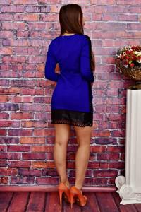 Платье короткое облегающее синее Т4240