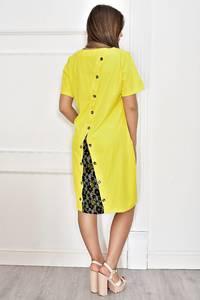 Платье короткое нарядное желтое Т6769