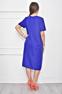 Платье короткое нарядное однотонное Ф0277
