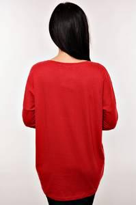 Кофта АТ-0203(темн. с длинным рукавом удлиненная классическая красн.)