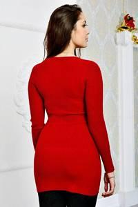 Туника красная с длинным рукавом П8815