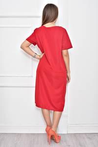 Платье короткое нарядное однотонное Ф0278