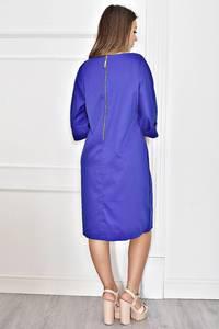 Платье короткое синее вечернее Т6770