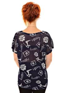 Блуза черная праздничная К8379