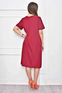 Платье короткое нарядное однотонное Ф0279