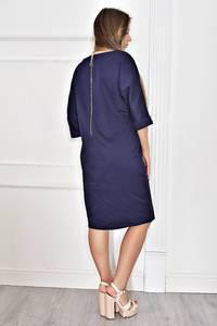 Платье короткое синее вечернее Т6771