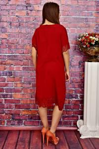 Платье длинное вечернее красное Т4173