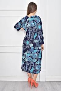 Платье длинное с принтом повседневное Ф0281